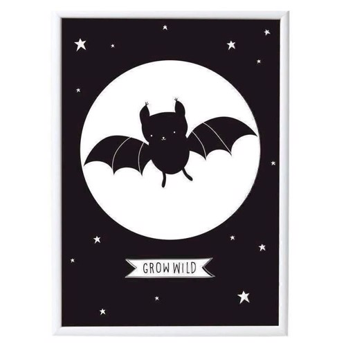 Image of   A Little Lovely Company plakat Batman flagermus