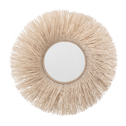 Image of   Bloomingville spejl med bred kant af sukkerrør