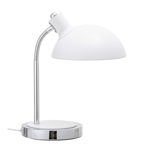 Image of Bloomingville bordlampe hvid metal