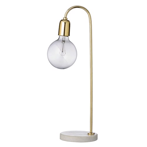 Image of   Bloomingville Bordlampe guld og marmor