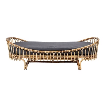 Bloomingville Daybed Madison i Rattan med grå madras