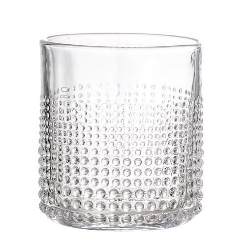 Image of   Bloomingville drikkeglas i klart glas med mønster