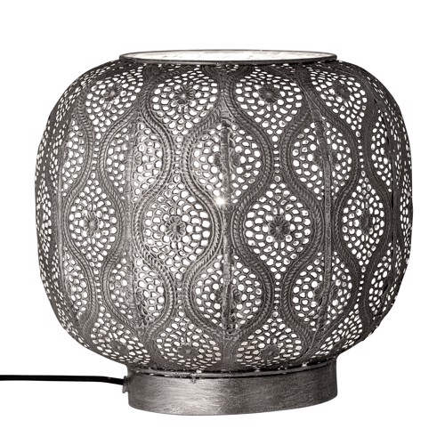 Image of   Bloomingville Bordlampe i grå metal