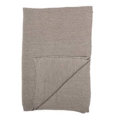 Bloomingville Mini Tæppe brun uld