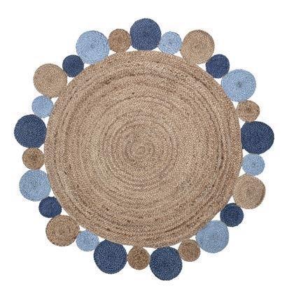 Bloomingville Mini tæppe jute blå