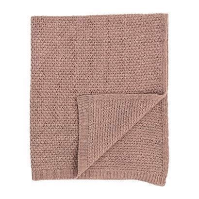 Bloomingville Mini Tæppe Rosa uld