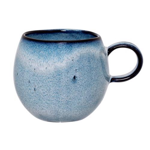 Image of   Bloomingville Sandrine kop med hank i blå stentøj