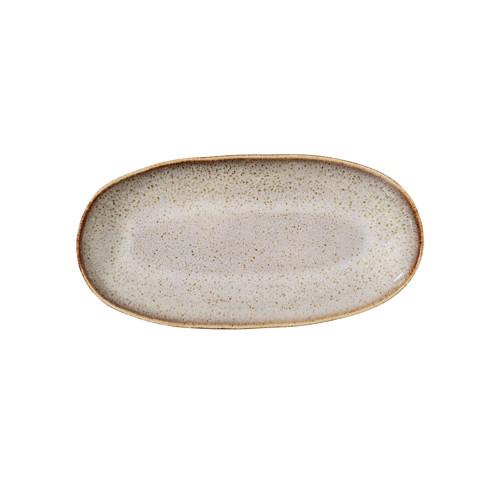 Image of   Bloomingville Sandrine Serveringsplatte i grå stentøj, lille.
