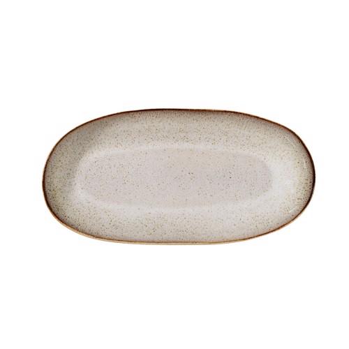 Image of   Bloomingville Sandrine Serveringsplatte i grå stentøj, stor.