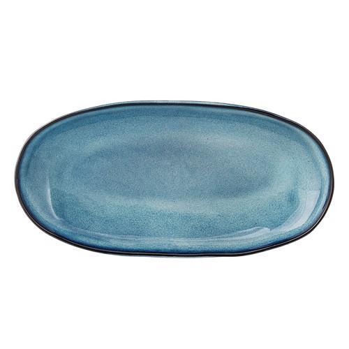 Image of   Bloomingville Sandrine Serveringsplatte i blå stentøj, lille