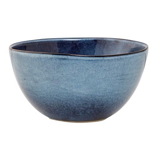 Image of   Bloomingville Sandrine skål i blå stentøj