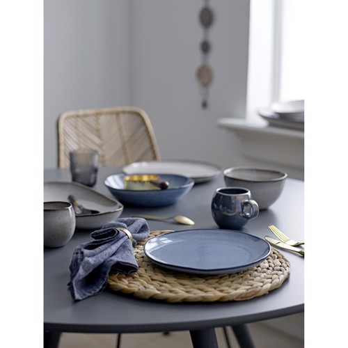 Image of   Bloomingville Sandrine frokosttallerken i blå stentøj 22 cm