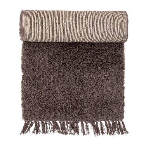 Bloomingville Tæppe brun uld