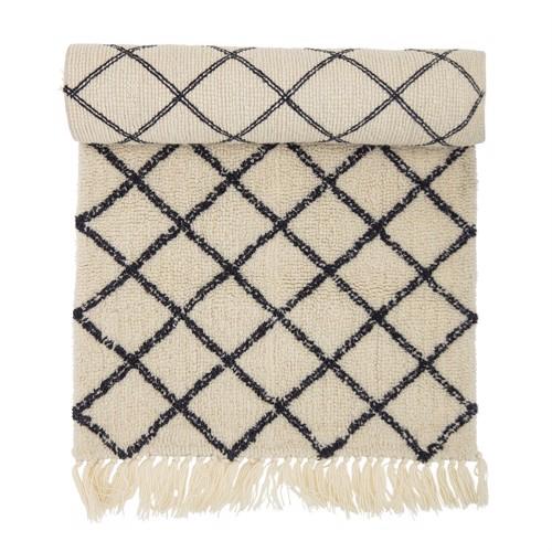 Image of   Bloomingville Tæppe uld mønster