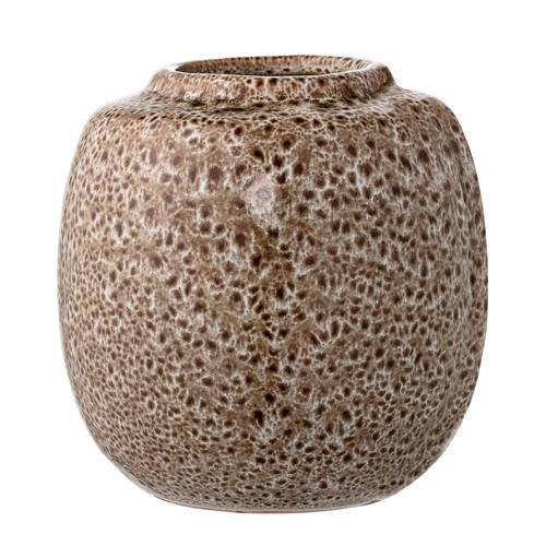 Image of   Bloomingville vase i brun keramik rund