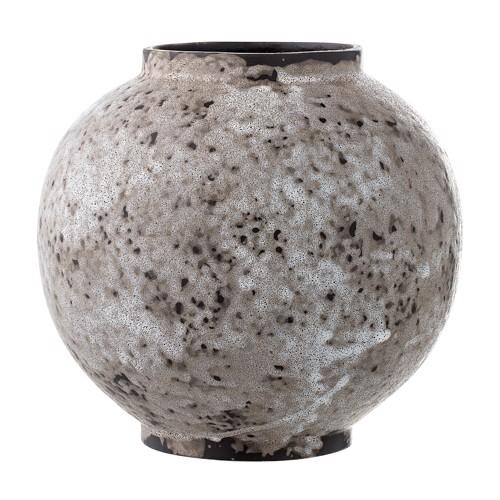 Image of   Bloomingville vase i grå keramik rund