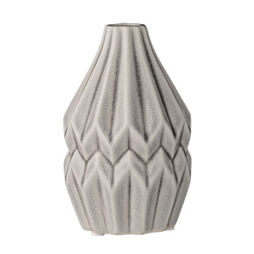 Image of   Bloomingville Vase grå keramik