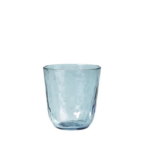 Image of   Broste Copenhagen Hammered blå vandglas