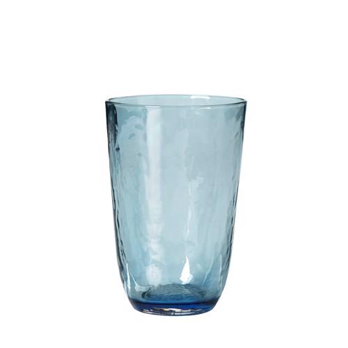 Image of   Broste Copenhagen Hammerred blå vandglas