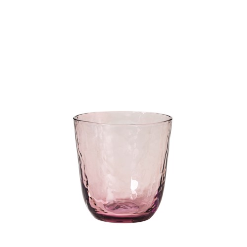 Image of   Broste Copenhagen Hammered pink vandglas