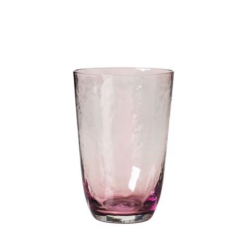 Image of   Broste Copenhagen Hammerred pink vandglas