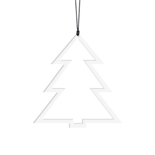Billede af Felius Design Julepynt Juletræer Hvid