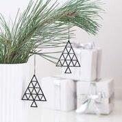 Billede af Felius Design Julepynt Juletræ sort streg