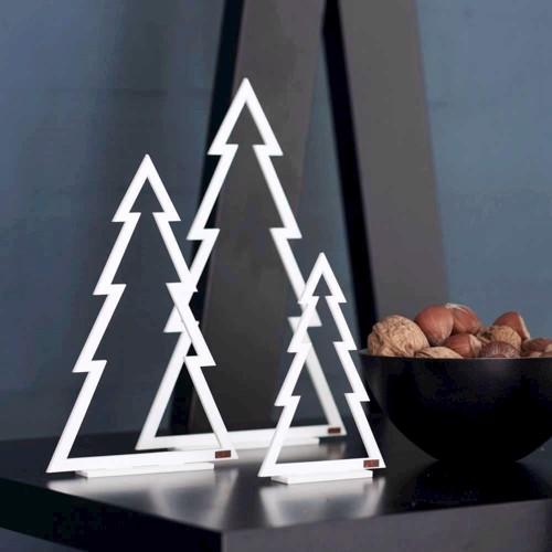 Billede af Felius Design Juletræer hvid streg 3 stk.