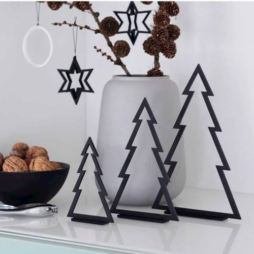 Billede af Felius Design Juletræer sort streg 3 stk.