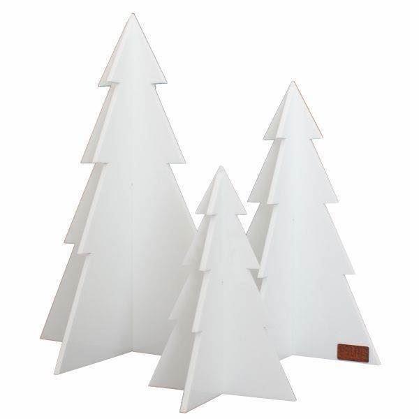 aa249df65c6 Felius design Julepynt juletræer 3 stk. hvide