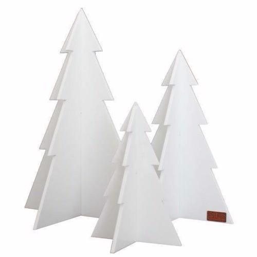 Billede af Felius design Julepynt juletræer 3 stk. hvide