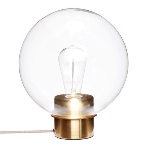 Billede af Hübsch bordlampe glas messing