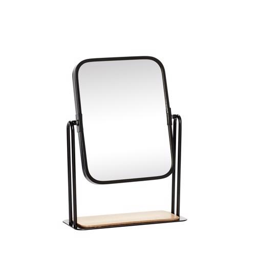 Hübsch bordspejl firkantet Sort