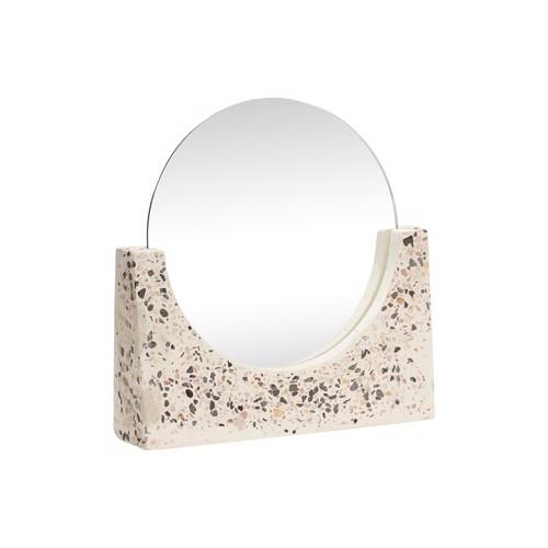 Hübsch bordspejl Terrazzo