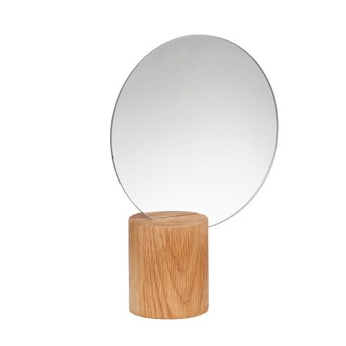 Hübsch Bordspejl i egetræ
