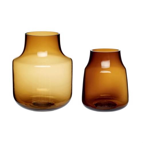 Image of   Hübsch brune glasvaser sæt af 2 stk