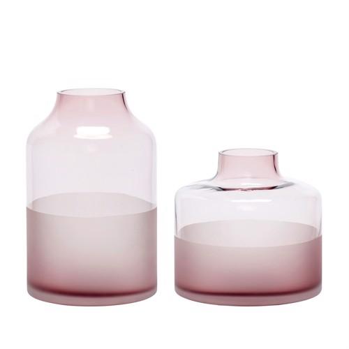 Billede af Hübsch glasvaser lyserød 2 stk.