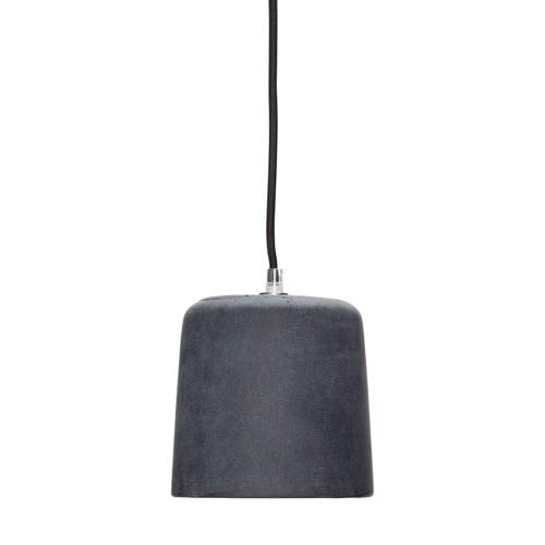 Billede af Hübsch Loftlampe sort beton