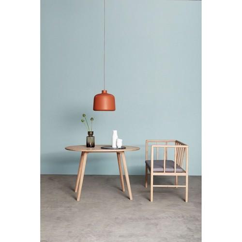 Hübsch loftlampe terracotta hvid aluminium