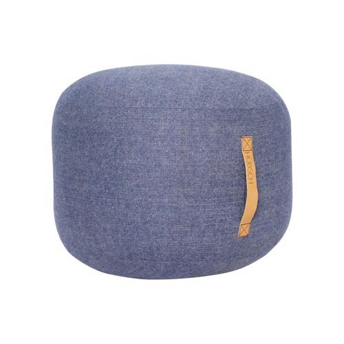 Image of   Hübsch Puf blå uld