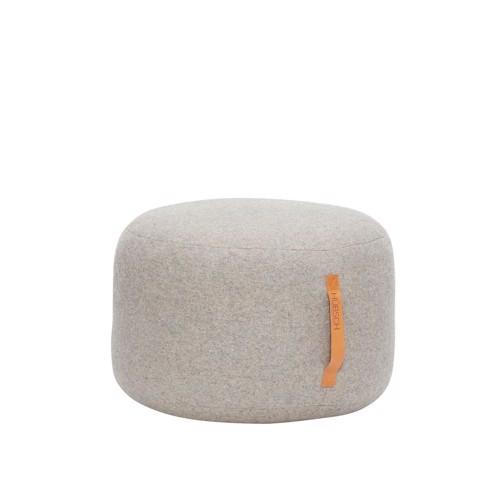 Hübsch puf grå uld