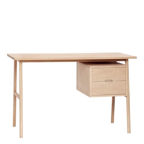 Hübsch Skrivebord Egetræ med 2 skuffer