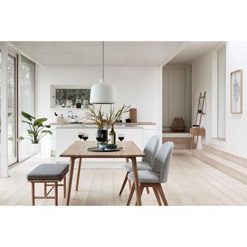 Hübsch Spisebordsstol grå