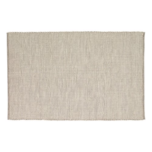 Hübsch tæppe i grå og hvid bomuld