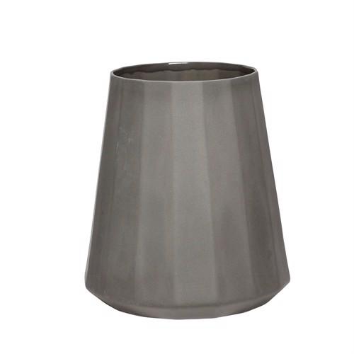 Image of   Hübsch vase i mørkegrå