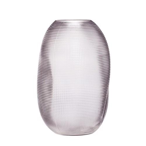 Image of   Hübsch Vase røget glas