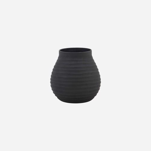 Image of   House Doctor vase Groove i sort