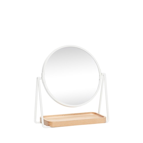 Hübsch bordspejl m/ bakke Hvid