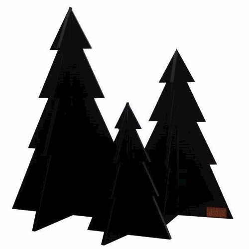 Billede af Felius design Julepynt juletræer - 3 stk. sorte