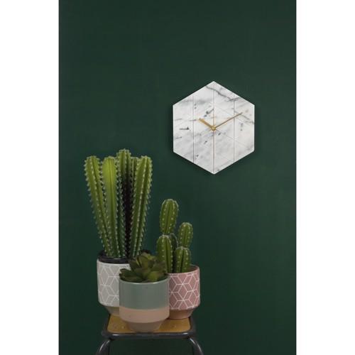 Billede af Karlsson vægur marmor hvid